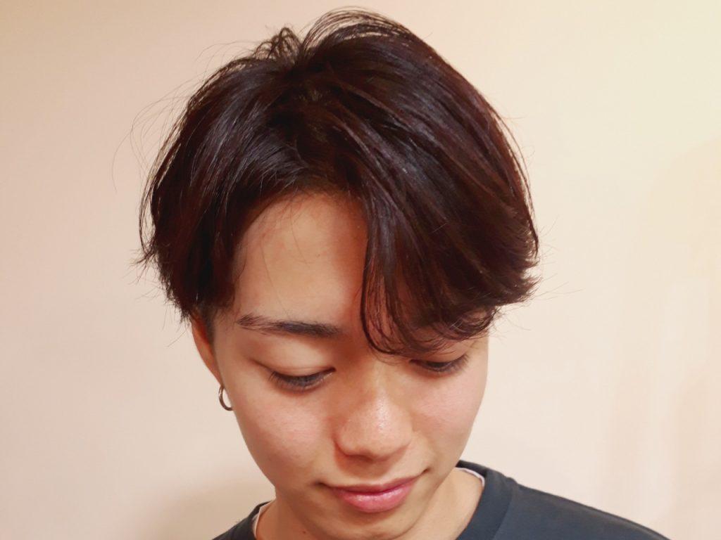 短髪 パーマ メンズ